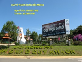 Giá vé tham quan đồi mộng mơ ở Đà Lạt