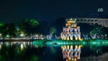 Hình ảnh về Hồ Hoàn Kiếm ở Hà Nội lúc về đêm