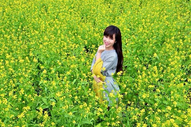 Description: Ngẩn ngơ ngắm cánh đồng hoa cải vàng nở rộ ở ngoại thành Hà Nội - 5