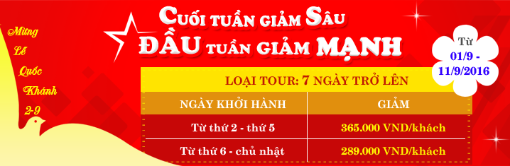 Tour Du Lịch Event 2/9/2016