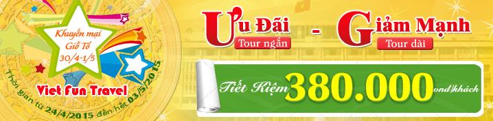 Tour Lễ Giỗ Tổ - 30/4 - 1/5/2015