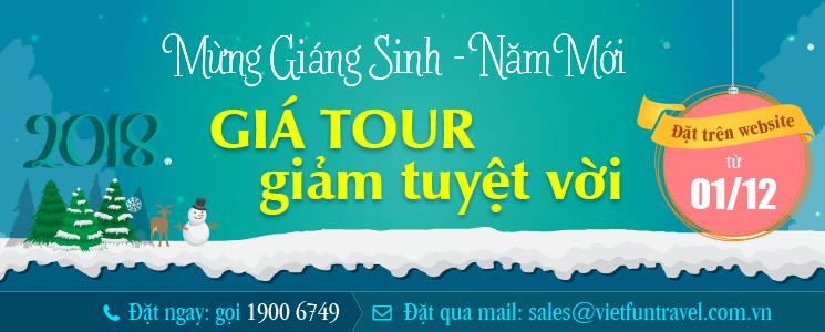 Thông báo khuyến mại Tour Noel - Tết Dương lịch - Âm lịch 2018