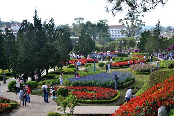 Toàn cảnh của vườn hoa Đà Lạt