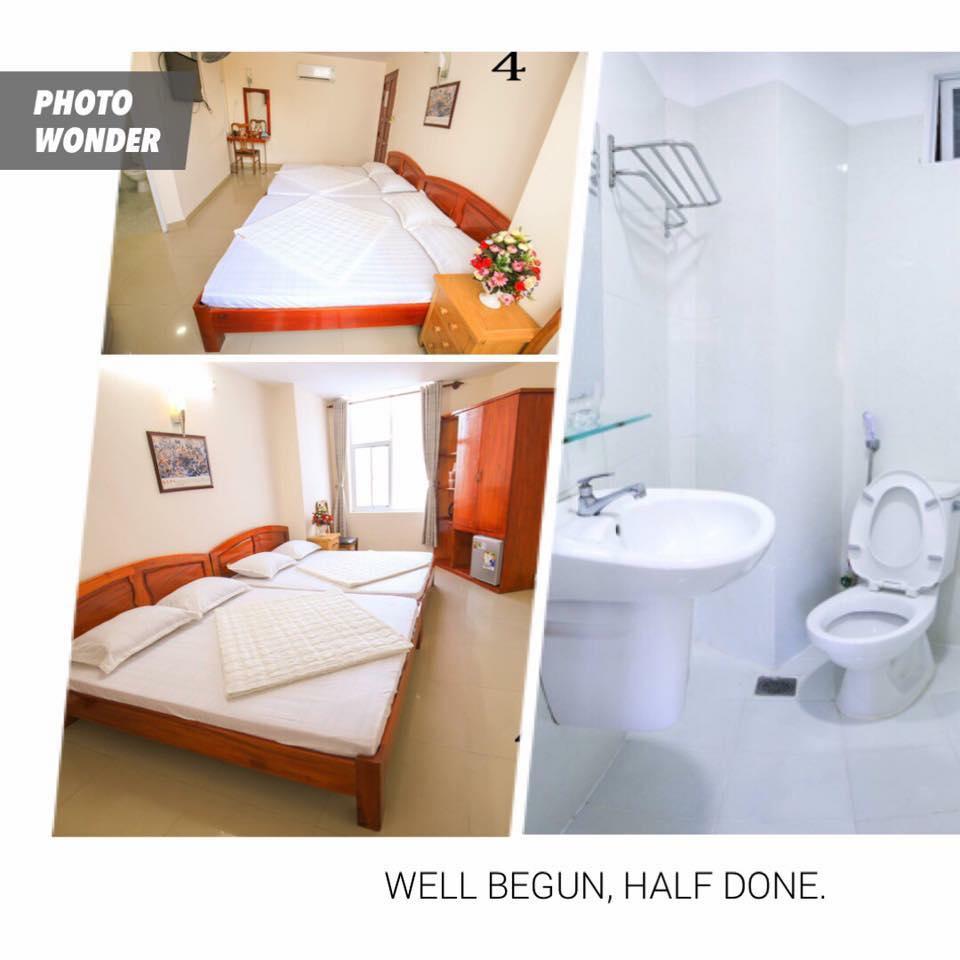 Phòng ngủ của nghỉ ATC sở hữu nội thất gỗ tinh tế