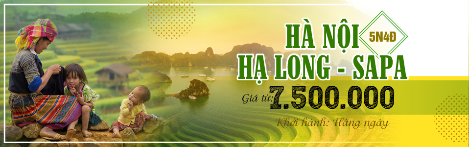 VF220: Tour Du Lịch Hà Nội - Hạ Long - Sapa 5 Ngày 4 Đêm
