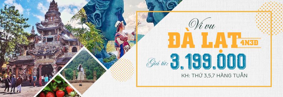 VF25: Tour Du lịch Đà Lạt 4 Ngày 3 Đêm Từ Sài Gòn