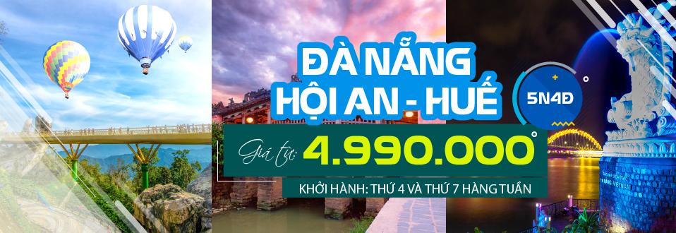 Tour Sài Gòn - Đà Nẵng - Hội An - Huế - Động Phong Nha 5 Ngày